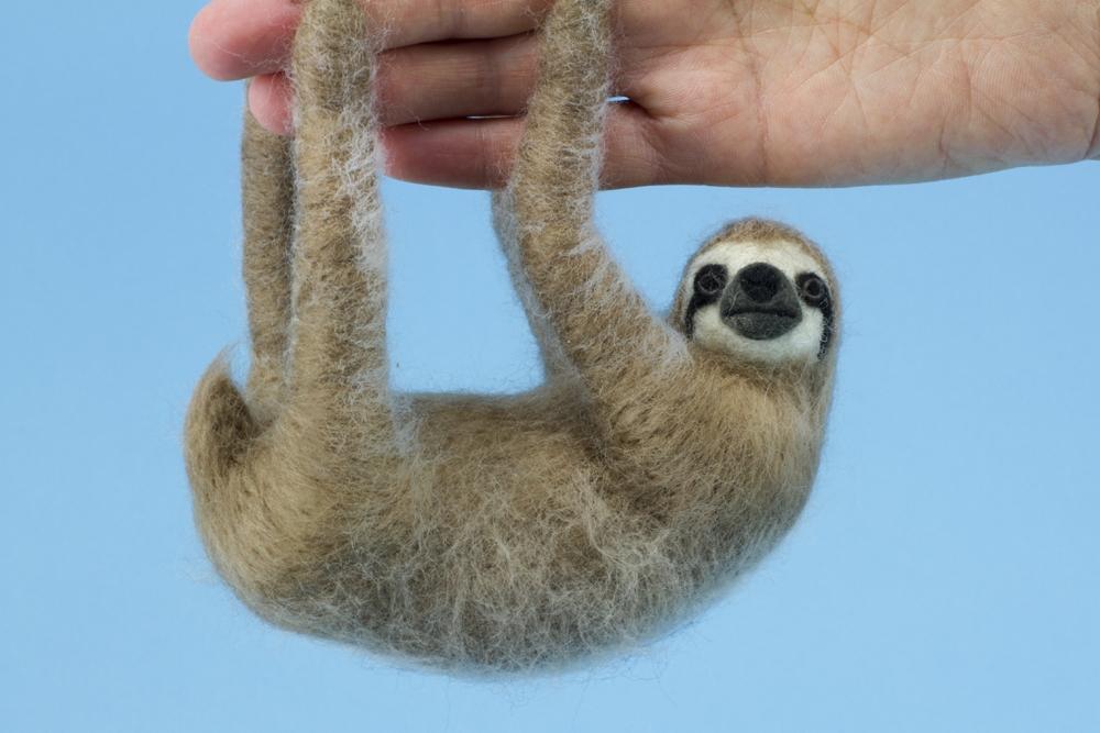 odlco design shop felt sloths three toes for hanging kiyoshi