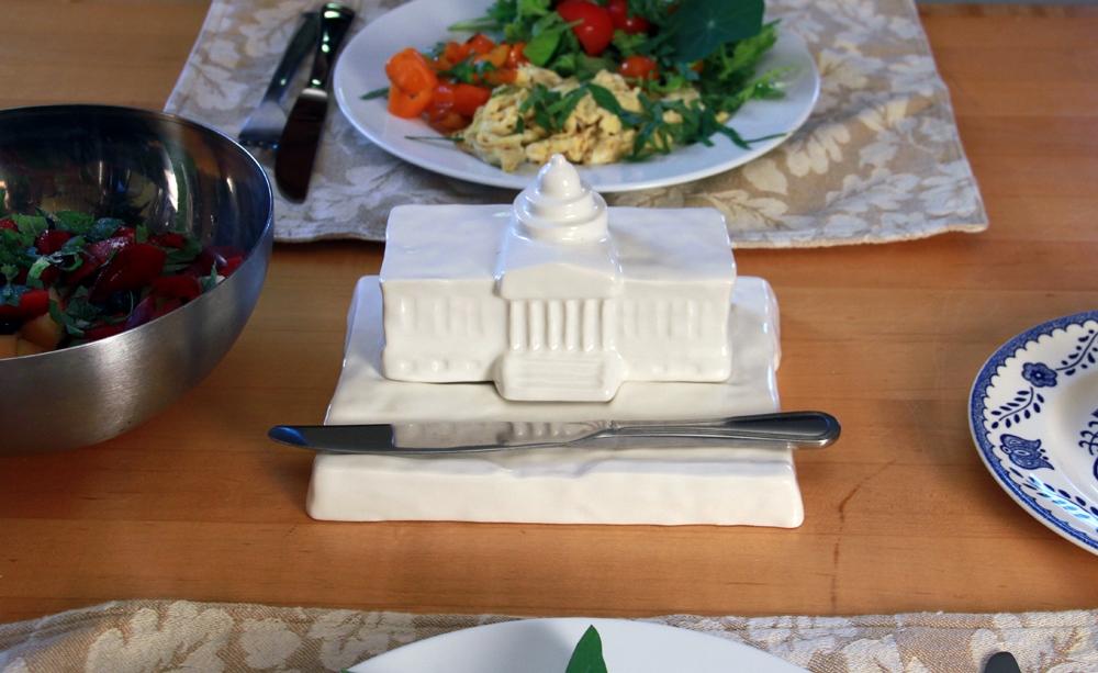 Odlco Design Shop Capitol Butter Dish Guns Or Butter